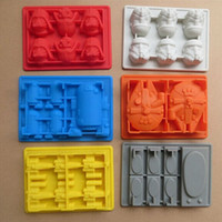 Wholesale 6pc Star Wars Darth Vader Storm Trooper R2D2 Falcon X Wing Hans Solo Silicone Mold Ice Cube Tray Chocolate Fondant