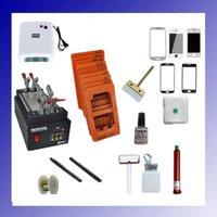 Wholesale 110 V for iPhone Plus Mobilephone Touch Glass Screen Repair Kit LCD Separator Machine Mould UV Loca Glue Cutting Wire UV lamp