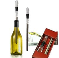 Wholesale 304 Stainless Steel Wine Cooling stick Corkcicle White Red Wine Chiller Replace the Ice Bucke