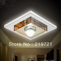 Cheap 2PCS lot 3Watt Square Crystal SMD led chandelier ,Simple Brief, Best For Home Light ,Home Decoration Lamp