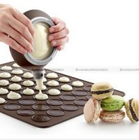 silicone baking sheets - Macaron Baking Mat Silicone Tray Cake Mould Pastry Sheet Muffin Tray Reusable Macaroon Silicone Baking Pastry Sheet Mat MoldTray LJJE135