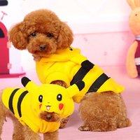 Wholesale PIKACHU Dog Clothes Jumpsuits XS XL Costume Hoodie Dog Clothing Coat