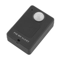 anti theft detector - 1pcs Mini PIR Alert Infrared Sensor Anti theft Motion Detector GSM Alarm Monitor Wireless Black m Drop Shipping