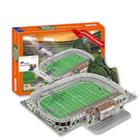Wholesale 3D Puzzle Stadium Model Estadio das Laranjeiras Stadium Fluminense Manoel Schwartz Souvenir Football Pitch Paper Model Toys