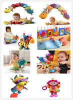 Wholesale New Baby Lamaze Toy Crib Toys With Rattle Teether Infant Early Development Toy Stroller Music Newborn Doll Toy Lamaze Cloth Books