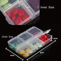 Wholesale Moisture proof Mini Pill Box with Number Grids Medicine Case Storage Box Six compartment Pill Organizer order lt no track