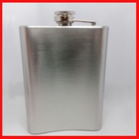 Wholesale 8 ounce Hip Flasks Stainless Steel Flagon Vodka Bottles Alcohol discreet Portable Wine Pot for men Alcohol Whiskey Wine Bottle