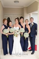 size chart - 2015 Hot Sale Navy Blue Bridesmaid Dresses One Shoulder Plus Size Dresses For Wedding Floor Length Custom Made Choose From Color Chart Cheap