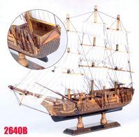 Wholesale Gold Supplier METTLE CM wooden sailboat model ornaments