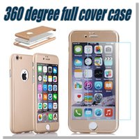 apple protect - For Iphone Screen Protection Degree Protect Case Tempered Glass Colorful Fashion Case For Iphone Plus iPhone plus With Retail Box