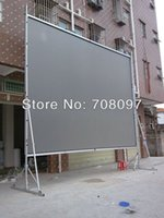 big projection screen - Aluminum case fast fold screen big size for rear projection with flightcase package