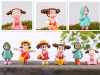 Wholesale New Miniature DIY Resin Baby Girl Landscape Garden Decoration Ornaments Accessory Potted Plants Decor Many Style