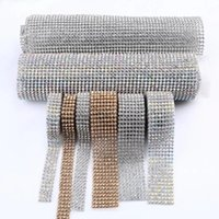 Wholesale 2016 new Stickers DIAMOND MESH RHINESTONE WRAP RIBBON CRYSTAL TRIMMING CAKE BANDING Car Vehicle Wedding Decoration Party Decor E461J