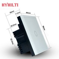 Wholesale China Hilti Way UK Wall Switch Waterproof Crystal Tempered Glass Panel With LED indicator Overload overheat protections