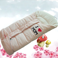 Wholesale Baby Infant Warm Stroller Thick Velvet Sleeping Bag Pushchair Footmuff Sack Seat Cover Wrap Blanket Swaddle Sleep Sacks