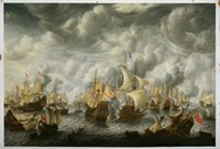 battle pictures - Battle of Scheveningen Large Wall Pictures for Living Room H