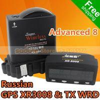 Wholesale car Orginal Advanced Conqueror Radar Detector Russian GPS XR3008 TX WRD with GPS and Russian Voice X K KU KA L VG