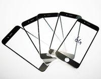 Pour iphone 6 4.7 plus 5.5 avant Outer lentille en verre pour l'iphone 4 4S 5 5C 5S tactile en verre Screen Cover Replacement Part Noir Blanc