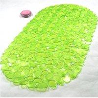 Wholesale F09935 Piece Pebble Style Non Slip Mat Applique Anti Slip Bathroom Bath mat Shower Floor Mat