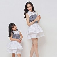 Wholesale 2015 New Arrival Matching Mother Daughter Clothes Mom And Daughter Dress Summer Style Mommy And Me Clothes Family Clothing
