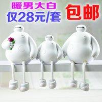 Wholesale Creative home decor furnishings office desk garden resin dolls hanging foot warmer boys white
