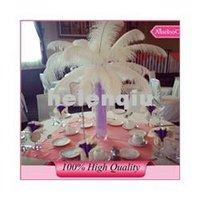 Wholesale cm inch high quality White fluffy Ostrich Feather Plume wedding decoration craft DIY accessories