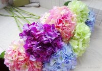 artificial flowers discount - Romantic wedding flower Cheap Artificial Silk Flower Artificial Flower Wedding Discount Silk Single Flower Fabric Hydrangea Bouquet