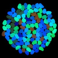 Wholesale 10Pcs Glow in the Dark Pebbles Artificial Stone Walkway Aquarium Fish Tank Decor