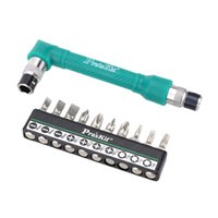 angled socket wrench - Pro sKit Precision L shaped Angle Head Twin Wrench Driver Set Professional in Socket Screwdriver Set with Torx and Flat Bit
