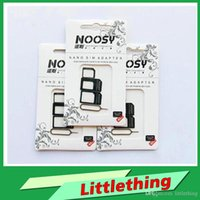 Wholesale New Arrival NOOSY Nano Sim Micro Sim Standard Sim Card Convertion Converter Nano Sim Adapter Micro sim Card For Iphone Plus Retail