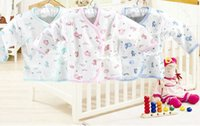 Wholesale cotton newborn baby clothing sets infants suit baby girls boys clothes