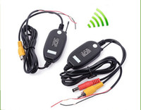 Wholesale Ghz Wireless Transmitter and Receiver for Reverse Camera Video Car Backup Rearview Parking Reversing Camera Retail M37577