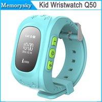 Hot Smart Kid Segura GPS del reloj del reloj SOS Llamada Localizador Localizador Tracker para Kid Anti-Perdida niño Baby Monitor Q50 Hijo regalo 002855