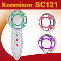 Wholesale 4 in1 RF Radio Frequency Ultrasonic Photon LED Light Vibrations Beauty portable facial ultrasonic rf Machine