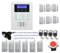 Wholesale Customized Security alarm system kit language in English French Russian Italian Chinese for option Smart wireless PSTN GSM alarm system