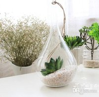 air plant sales - Sale set taper air plant glass hanging glass vase succulent terrarium kit for home decoration housewarming green gift