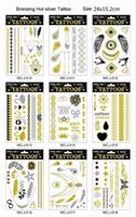 flashing christmas jewelry - Fashion Gold Silver and Black Flash Inspired Metallic Jewelry Christmas Gifts Temporary Tattoos