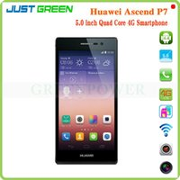 <b>Huawei</b> Ascend P7 Android 4.4.2 Emoción UI2.3 Hisilicon Kirin 910T 1.6GHz Quad Core 2G 16G FHD 5,0 pulgadas 1920 * 1080 4G Smartphone