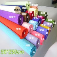 Wholesale Size cm m Roll up hem crepe paper prontpage flower wrapping paper cartoon floweruquet packing paper