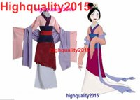 Wholesale Hua Mulan Dress Princess Dress Movie Cosplay Costume halloween christmas Stage clothes