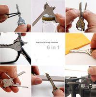 Wholesale OEM SWISS TECH Utili Key In Mini Multitool Keyring Pocket Knife Folding Knife Survival Knife