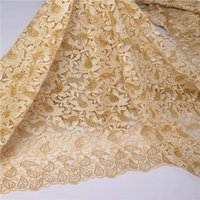 Stones gold african lace fabrics multi color lace fabric for wedding
