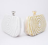 beaded cosmetic bags - Factory price Luxury Dazzling Sequins Handbag Party Evening Bag Wallet Purse Glitter Spangle Day Clutch Bags Gold Handbag Cosmetic bag