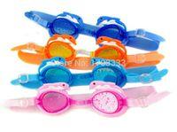Wholesale 60ps Silicone Dolphin Style Swimming Goggles Anti fog coating swimming glasses Child swim eyewear DHL Fedex