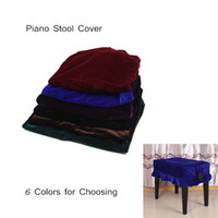 Wholesale Pinao Accessories Piano Stool Chair Cover Pleuche Decorated with Macrame Universal for Piano Single Chair order lt no track