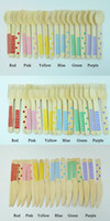 Wholesale 360pcs quot Wooden Utensils Cutlery Set Disposable Wooden Spoon Fork Knife in Rainbow Chevron Stripe Polka Dots