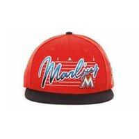 Wholesale MLB color baseball cap flat brimmed hat Florida Marlins Florida Marlins adjustment cap hip hop