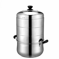 Wholesale Factory Direct sale layer stainless steel steamer pot with thick double bottom single bottom stockpot steamer cooker Universal cm