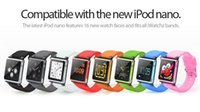 Wholesale iWatchz Wrist Watch Band Strap mp4 Player Cases For iPod Nano Case with Retail Box High Quality Various Colors