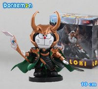 action tv shows - Cute quot Anime Cartoon Doraemon Cosplay Show cos LOKI Boxed cm PVC Action Figure Collection Model Doll Toy Gift